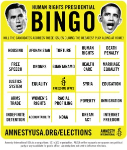 Amnesty International Presidential Bingo