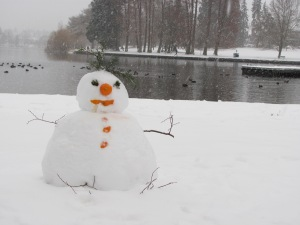 Snowman at Green Lake